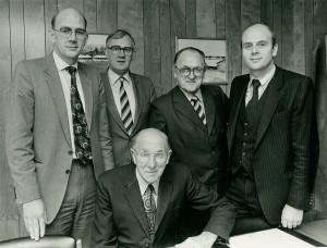 1981 3rd & 4th Generation Woodhouses pre-retirement. Michael, Robert, Leslie, Bruce & Richard.