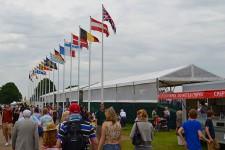 Grandstand Flag display Royal Norfolk
