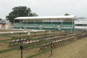 7 tread covered Grandstand and sets of 4 chairs Royal Showground National Dressage Championships