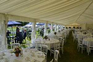 Members lawn and dining tent Royal Norfolk Show