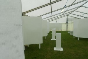 Art exhibit empty Royal Norfolk Show