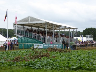 LH Woodhouse temporary grand stand at CLA Game Fair